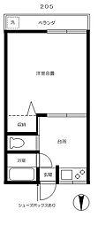 カナリヤ荘[2階]の間取り