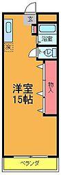 大建本八幡コーポ[3階]の間取り
