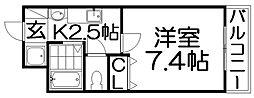 M'PLAZA香里壱番館[8階]の間取り