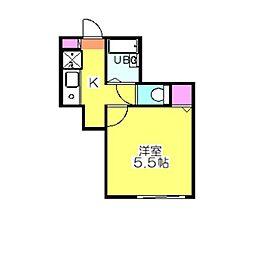 コスタブラバ・日吉[2階]の間取り