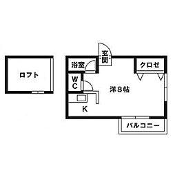 ファミール笹原[2階]の間取り