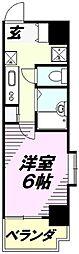 埼玉県所沢市西所沢1丁目の賃貸マンションの間取り