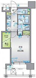 アクタス六本松アネックス 6階1Kの間取り
