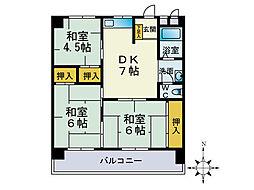 第3堺ビル[102号室]の間取り