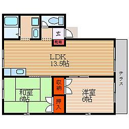 滋賀県彦根市原町の賃貸アパートの間取り