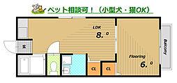 カーサ鈴蘭台II[2階]の間取り