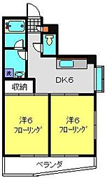 フラット福寿第5[3階]の間取り