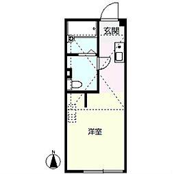 ハーミットクラブハウス戸塚II[1階]の間取り