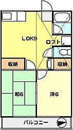 T−net コーポ梅の木[202号室]の間取り