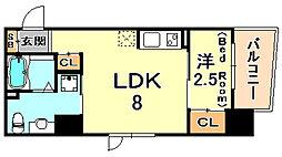 シティフラット六甲道2 5階1LDKの間取り