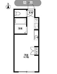 東京都国立市富士見台4の賃貸マンションの間取り