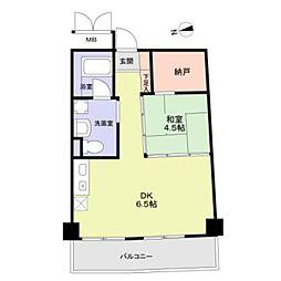 サンライフ尾崎4階Fの間取り画像