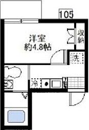 オーガスタコート横浜反町[105号室]の間取り