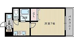 大阪府吹田市内本町1の賃貸マンションの間取り