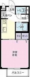 愛知県一宮市猿海道3丁目の賃貸アパートの間取り