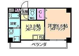 アミル9[6階]の間取り