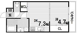 KTIレジデンス月見山Ⅱ[1階]の間取り