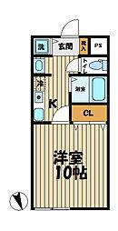 YAMASHIN・笛田[103号室]の間取り
