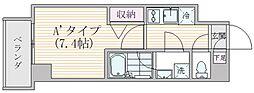 エスジーコート元浅草 2階1Kの間取り