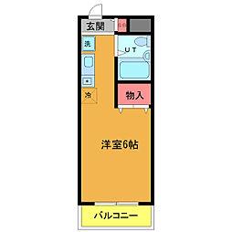 千葉県浦安市東野2丁目の賃貸マンションの間取り