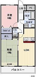 愛知県北名古屋市井瀬木居屋敷の賃貸マンションの間取り