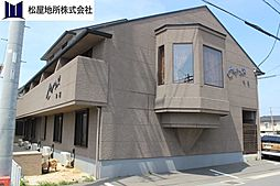 愛知県豊橋市神野新田町字会所前の賃貸アパートの外観
