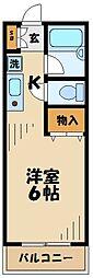 東京都八王子市別所1の賃貸マンションの間取り