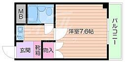 JR東海道・山陽本線 岸辺駅 徒歩11分の賃貸マンション 3階1Kの間取り