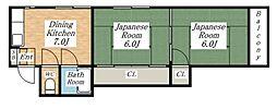 タメキマンションIII[3階]の間取り