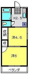 尾原荘[101号室]の間取り