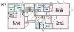 JR中央線 阿佐ヶ谷駅 徒歩13分の賃貸マンション 3階ワンルームの間取り
