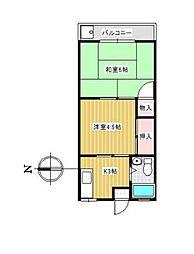 ドエルサンミーI[2階]の間取り