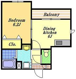 デューセンバーグ[2階]の間取り