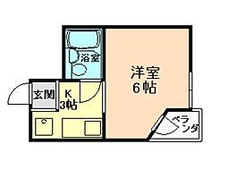 大阪府大阪市福島区吉野1丁目の賃貸マンションの間取り