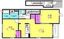 兵庫県加古川市平岡町中野の賃貸アパートの間取り