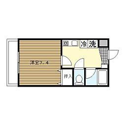 横浜元町ガーデン12[2階]の間取り