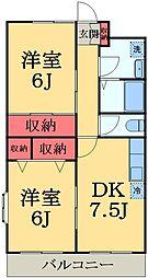 千葉県千葉市中央区仁戸名町の賃貸マンションの間取り