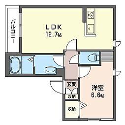 グランメゾン 神楽坂 3階1LDKの間取り