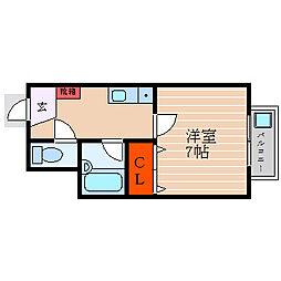 滋賀県彦根市日夏町の賃貸アパートの間取り