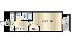 ララプレイス新大阪シエスタ 6階1Kの間取り