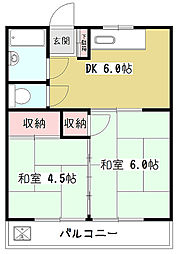 マンション赤坂[1階]の間取り