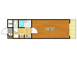 第132新井ビル[204号室]の間取り
