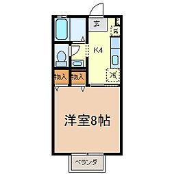 メゾン・ボナール[1階]の間取り