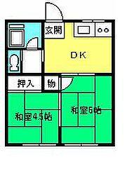 七里コーポ[102号室]の間取り