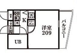 ワコーレ宮前平[5階]の間取り
