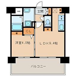 三島マンション博多駅東[7階]の間取り