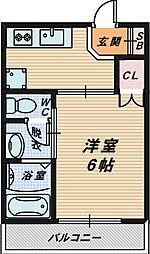 大阪府和泉市箕形町1丁目の賃貸アパートの間取り