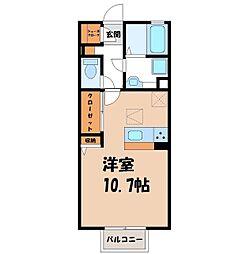 D‐room思川マロン G 2階ワンルームの間取り