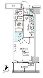 パークアクシス横濱大通り公園 8階1Kの間取り