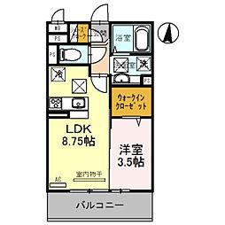 南海和歌山港線 和歌山港駅 徒歩20分の賃貸アパート 1階1LDKの間取り